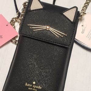 Kate Spade Kitty Cat Crossbody Phone Bag NEW